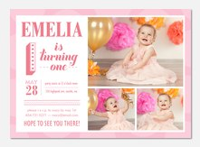 Girl Birthday Party Invitations - Sweet Happiness