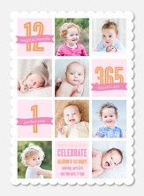 Girl Birthday Party Invitations - Birthday Collage