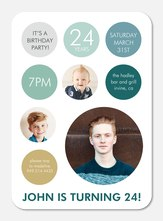 Adult Birthday Party Invitations - Mod Circles