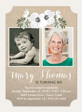 Adult birthday invitations simply to impress rustic wildflowers filmwisefo Choice Image