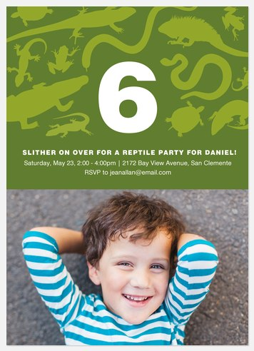 Reptile Adventure Kids' Birthday Invitations
