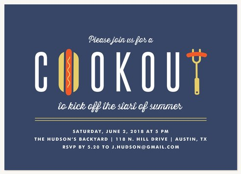 summer party invitations summer cookout