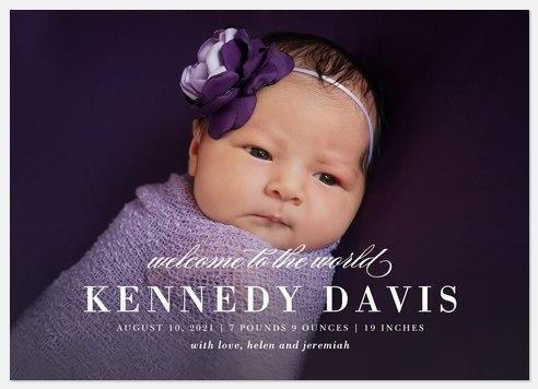 Chic & Stylish Baby Birth Announcements