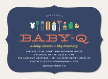 Arrival shower invitations simply to impress backyard baby q filmwisefo