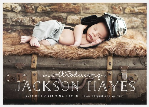 Charming Whimsy Baby Birth Announcements