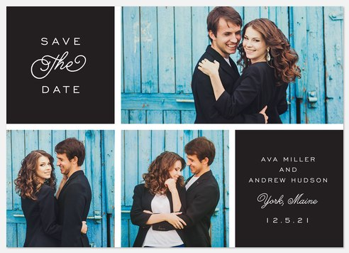 Romantic Curls Save the Date Photo Cards