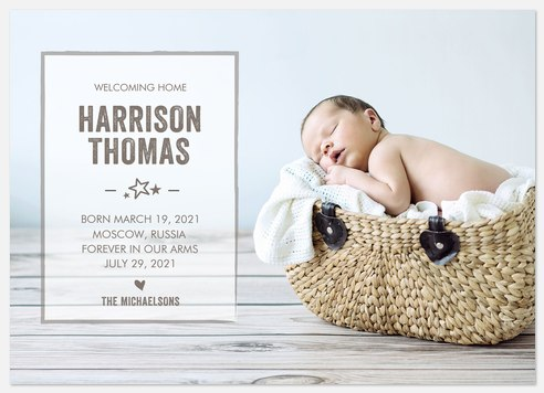 Lucky Stars Baby Birth Announcements
