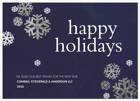 Dancing Snowflakes Business Holiday Cards