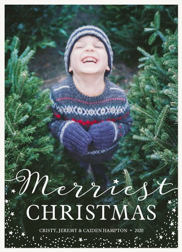 Sprinkled Stardust Photo Holiday Cards
