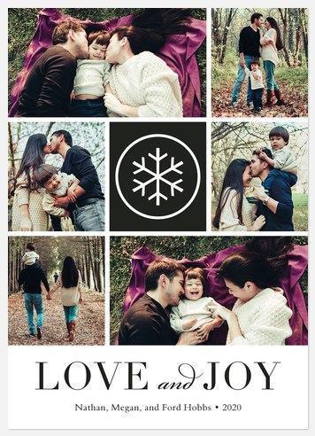 Wonderful Snowflake Holiday Photo Cards