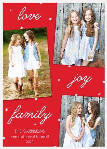 Starred Moments Holiday Photo Cards