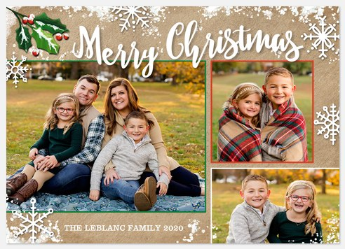 Frosted Blessings Holiday Photo Cards