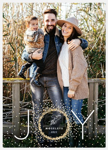 Confetti Wreath Holiday Photo Cards