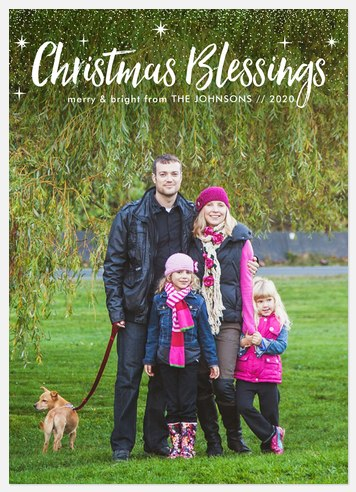 Starry Blessings Holiday Photo Cards