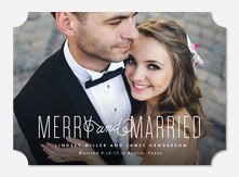 Newlywed Christmas Cards - Very Married