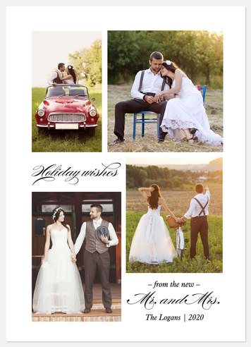 Marry Wishes Holiday Photo Cards