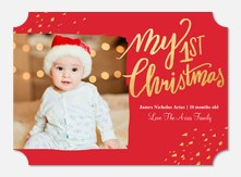 Baby Holiday Cards - Shimmering Speckles