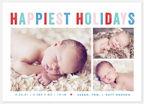 Bright Arrival Holiday Photo Cards