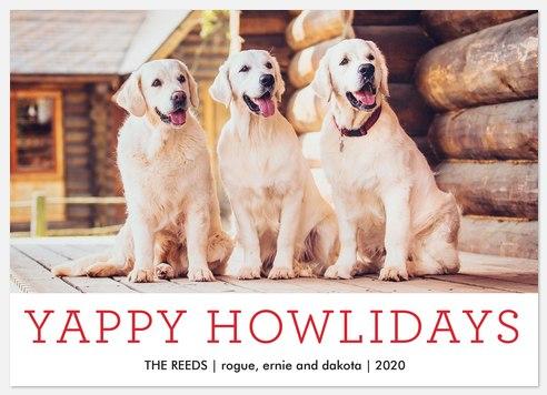 Yappy Howlidays Holiday Photo Cards