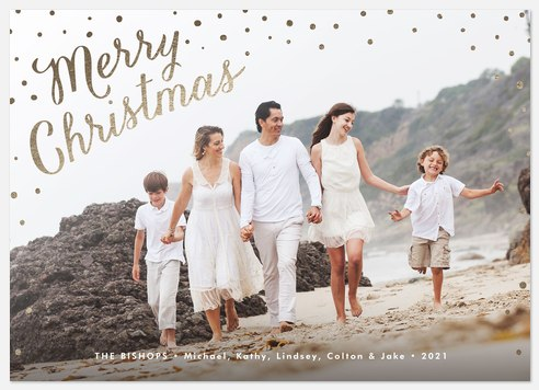 Luxe Snowfall Holiday Photo Cards