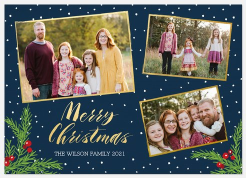Snowy Forest Holiday Photo Cards