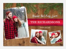 Evergreen Boughs - holiday photo cards