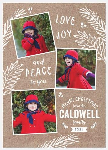 Krafty Boughs Holiday Photo Cards