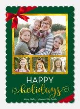 holiday cards - Crimson Bow