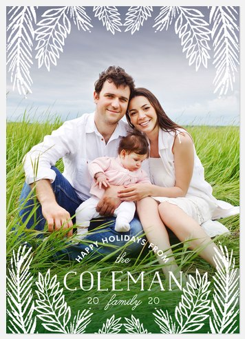 Wintry Foliage Holiday Photo Cards