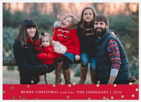 Glowing Dots Holiday Photo Cards