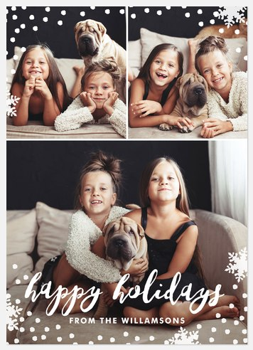 Delightful Snowfall Holiday Photo Cards