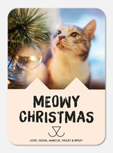 Dog Christmas Cards - Cheerful Kitty