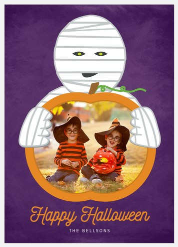 Frightful Mummy Halloween Photo Cards