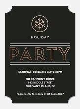 Holiday Party Invitations - Iridescent Snowflake