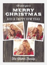 photo Christmas cards - Rustic Wonder