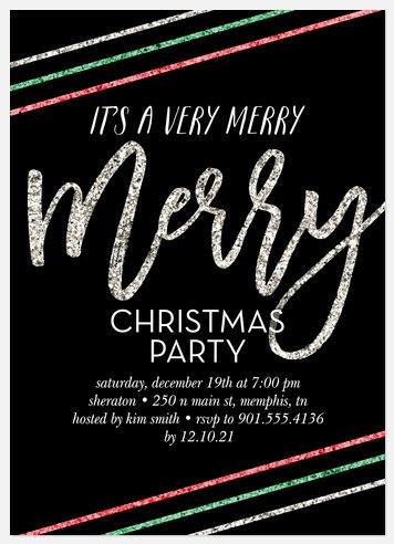 Glitzy Celebration Holiday Party Invitations