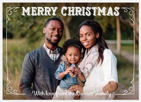 Elegant Frame Holiday Photo Cards