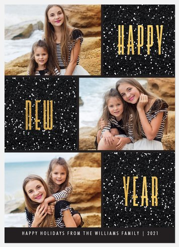 Dazzling Year Holiday Photo Cards