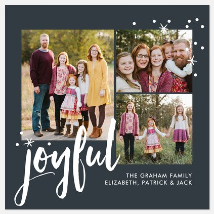 Snowy Joy Holiday Photo Cards