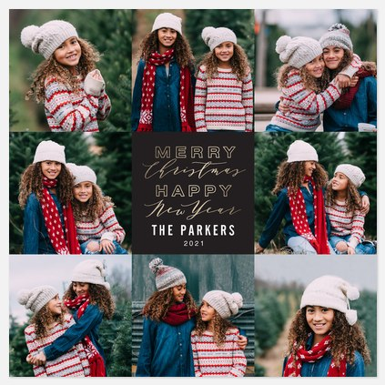 Merry + Happy Holiday Photo Cards