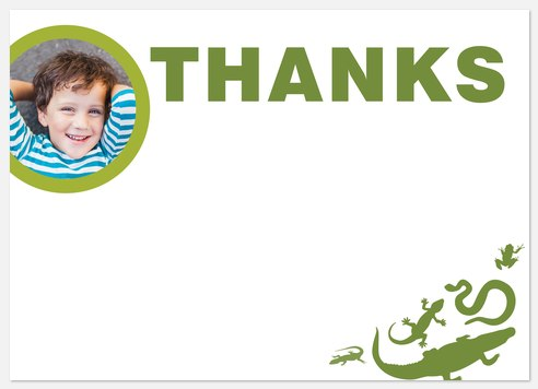 Reptile Adventure Thank You Cards
