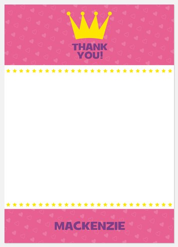Royal Princess Thank You Cards