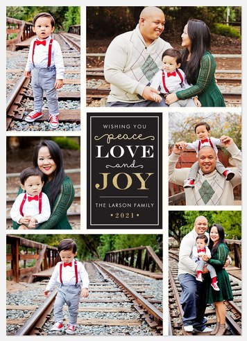 Joyful Whimsy Holiday Photo Cards