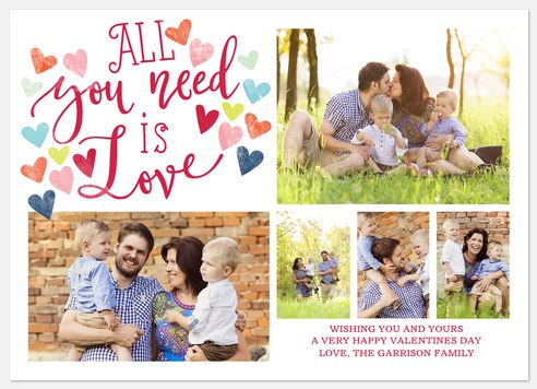 Love Is All You Need Valentine Photo Cards