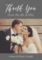 Mr. and Mrs. - Wedding Thank You Cards