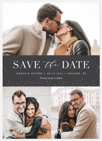 Heirloom Lights Save the Date Photo Cards