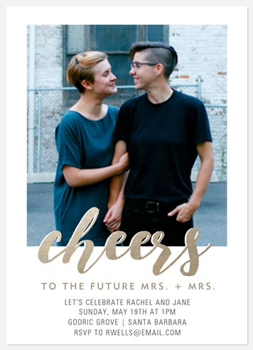 Cheers Mesdames Engagement Party Invitations