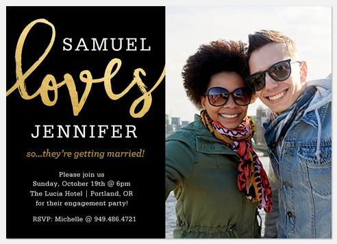 Engagement Loves Engagement Party Invitations