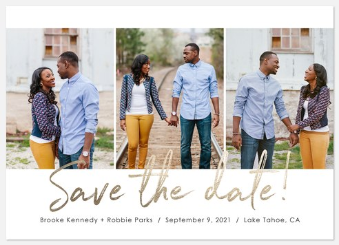 Beloved Script Save the Date Photo Cards