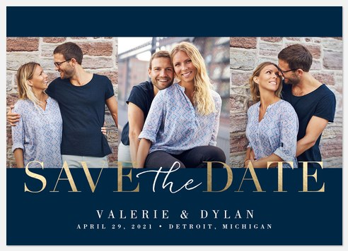Classic Date Save the Date Photo Cards